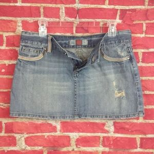 OLD NAVY Low Waist Jean Mini Skirt Women's 10